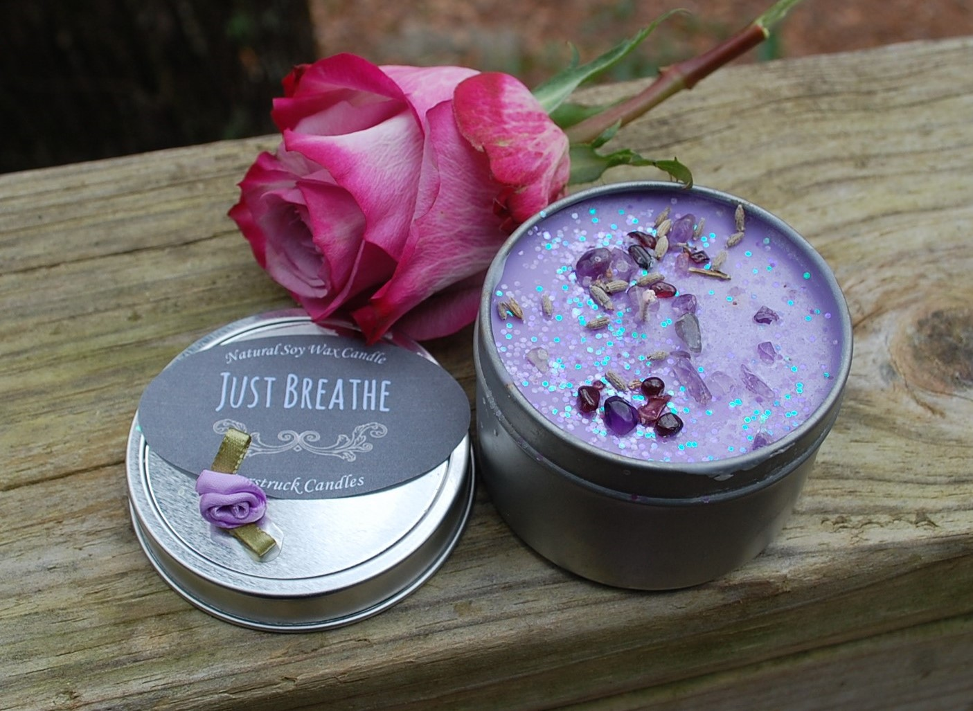 Wholesale Candles Relaxation Gifts Flower Candles Lilac Scented Candle